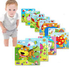 Wooden Animal Puzzle Jigsaw Early Learning Baby Kids Educational Toys