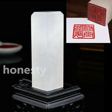 Chinese Traditional Carving Seal Sculpture Name DIY Stone Jade Seal Art Craft
