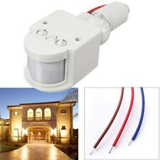 LED Security PIR Infrared Motion RF Sensor Detector Outdoor Wall Lamp White DH