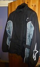 ALPINESTARS PARIS DAKAR STYLE WATERPROOF JACKET BLACK AND GREY WITH ASTARS LOGOS