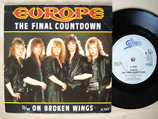"""Europe The Final Countdown UK 7"""" Epic A 7127 1986 EX+"""