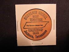 Jackson, Tennessee Wooden Nickel token- West TN Collectors' Club Wooden Coin IND