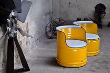 Sessel aus 200l Neu Fass Ölfass Farben nach Wahl Pulverbeschichtet