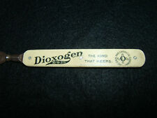 Antique Celluloid Adv. DIOXOGEN - H2/O2/3% / OAKLAND CHEMICAL CO. Letter Opener