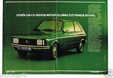 Publicité Advertising 1978 (2 pages) Citroen LNA 4 Cv