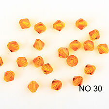 Jewelry making 100pcs 4mm #5301colorful Bicone glass crystal beads