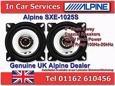 "Alpine SXE-1025S 4""(10cm DIN) Custom Fit Coaxial 2-Way Car Speakers 180W PAIR"