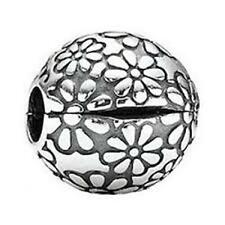 Authentic Pandora S925 Ale silver #791013 Lazy Daisy flower clip Bead Charm NWOT