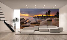 Tahoe Sunset 1 Wall Mural Photo Wallpaper GIANT DECOR Paper Poster Free Paste