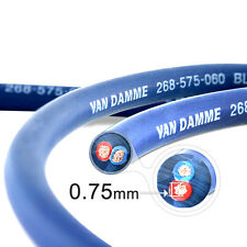 Van Damme Blue Series Studio 2x0.75mm Twin Axial Speaker Cable 5m - Unterminated