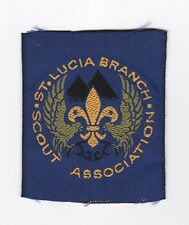 1960's SCOUTS OF WEST INDIES - ST. LUCIA BRANCH SCOUT ASSOCIATION EMBLEM Patch