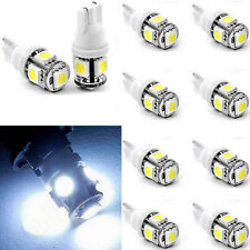 10pcs T10 5050 W5W 5 SMD 194  LED White Car Side Wedge Tail Light Lamp Bulb 12V