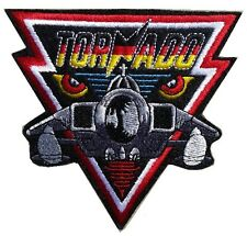 NEW PREMIUM IRON ON PATCH TORNADO AIRFORCE SQUADRON FIGHTER ARMY SEW ON BADGE