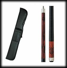 New Outlaw OL21 Pool Cue Stick - Cherry Maple 8 Ball w/ Flames 18 - 21 oz & Case