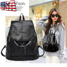 Women Girl Leather Travel Satchel Handbag Shoulder Backpack School Rucksack Bag