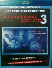 Paranormal Activity 3 (Blu-ray/DVD, 2012, 2-Disc Set, Rated/Unrated