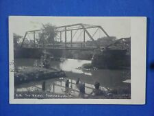 Vintage Real Photo Postcard The Bridge Forrestville IA Wm Struckman Fullerton ND