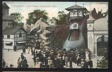 Postcard CLEVELAND Ohio/OH  Luna Amusement Park Giant Shoe Sliding Board 1907