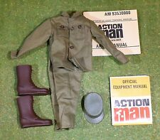 ACTION SOLDIER - AMERICAN FATIGES JACKET TROUSERS CAP & BROWN BOOTS & LEAFLETS