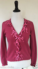 $660 Moschino Chic and Cheap Pink Cardigan Sweater Vest With Bow Ribbon Sz 44