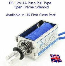 DC 12V 1A Push Pull Type Open Frame Solenoid Suit Raspberry Pi Arduino Pic etc