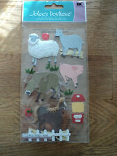 EK SUCCESS JOLEE'S BOUTIQUE PETTING ZOO DIMENSIONAL STICKERS BNIP