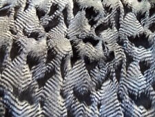BLACK AND WHITE FEATHER HEAD UPHOLSTERY DRAPERY FABRIC BY THE YARD