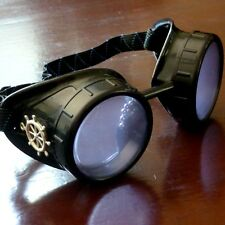 Steampunk goggles glasses welding diesel punk biker goth cosplay rave lens sbw l