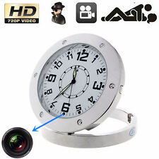 HD SPY Hidden Video Camera Table Clock Motion Detection Mini DV DC DVR 720P DM