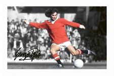 GEORGE BEST - MANCHESTER UNITED AUTOGRAPHED SIGNED A4 PP POSTER PHOTO 1