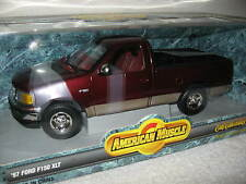 1997 97 FORD F-150 XLT  PICKUP MAROON ERTL 1:18  AMERICAN MUSCLE NEVR OUT A BOX