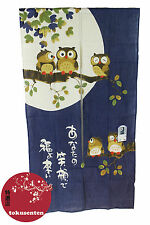 NOREN Traditionnel HIBOU OWL Japanese Noren Japonais Rideaux MADE IN JAPAN NEUF