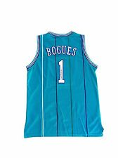 Tyrone Muggsy Bogues Charlotte Hornets (Away Teal) Signed Jersey JSA