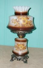 """TABLE LAMP """"GWTW"""" PUFFY GLASS PARLOR LAMP """"GONE WITH THE WIND """" STYLE  GLASS"""