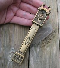 Old Reclaimed Solid Brass Grandfather Clock Door Knocker