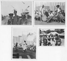 AFRICA - ACHOLI   CONGO NATIVE DANCERS, UGANDA, ITURI FOREST-GROUP OF 4 PHOTOS