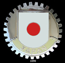 CAR GRILLE  EMBLEM  BADGES  -  JAPAN (FLAG)