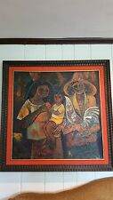 Large oil on canvas by well known Filipino artist Roger San Miguel (1941-)