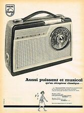 PUBLICITE ADVERTISING 124  1959   PHILIPS   transistor