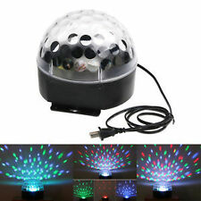 RGB Voice-Activated LED Crystal Magic Ball Effect DJ Stage Light