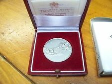 1992 Vatican Italy Musei Vaticani Michelangelo Medal Silver Coin papers + Box