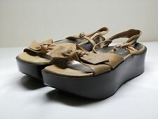 Women's EARTH KALSO Olivia Toffee Brown Leather Platforms Size 7 B
