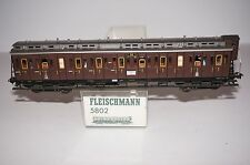 (B#007) HO Scale Compartment Car KPEV Fleischmann 5802 / BOXED / EXC / LIGHTING