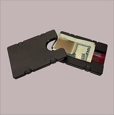 Black Billet Aluminum Wallet/Credit Card Holder with removable Money Clip