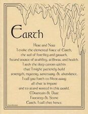 EARTH EVOCATION - POSTER  Wicca Pagan Witch Witchcraft Goth BOOK OF SHADOWS