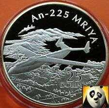 2003 SOLOMON ISLANDS $25 Dollars An-225 MRIYA Fine .999 Silver Proof Coin
