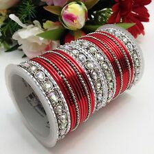 Indian Bridal/Party Wear Bangles Size:(2.10) (Set Of 32)