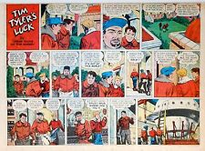 Tim Tyler's Luck by Young - large half-page color Sunday comic - July 27, 1952