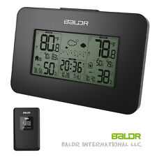 Digital LCD Weather Station Alarm Clock Outdoor Temperature Humidity Backlight