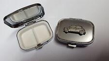 Coche clásico Mini pp-t06 Inglés estaño emblema en un Rectangular Metal Pastillero
